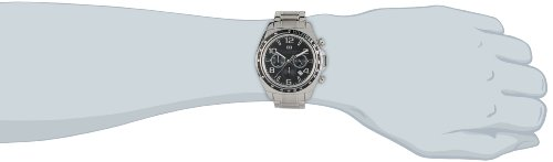 Tommy Hilfiger Colton Men's Quartz Watch with Black Dial Analogue Display and Silver Stainless Steel Bracelet 1790939
