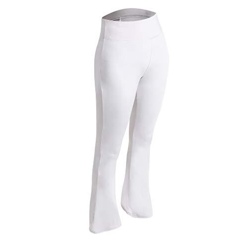 Pigup Frauen elastische Hose Flare Bell-Bottom Yoga-Hosen mit hoher Taille dünner Bootcut -