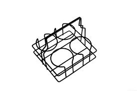ASA COPPETTA Becherträger, schwarz beschichtet 13,2 x 13,2 cm, H. 13,4 cm