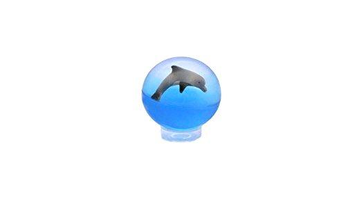 1 x Flummi mit Delfin 4,5 cm Gummiball Bouncing Ball Springball Hüpfball spielen+sammeln Mitbringsel (Kostüme Schwertfisch)