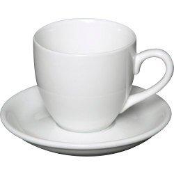 Espresso Cup & Saucer 100ml 4oz Dema Simplicity Dishwasher & Microwave (caffè e Espresso Makers)