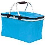 Einkaufskorb isoliert blau türkis bis 25 kg belastbar Alurahmen faltbar