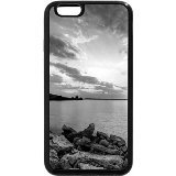 Iphone 6s case, iphone 6 case (black & white) - last minute of a sunset