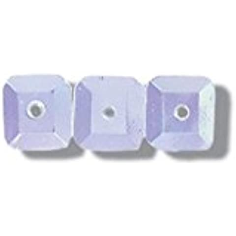 Impex quadrato paillettes, 7mm, colore: bianco Iris, Confezione da 120circa