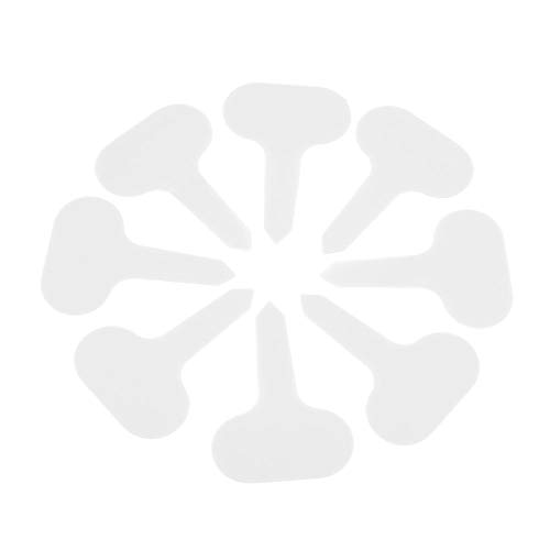 100 pcs Étiquettes de plantes Résistant aux UV T-Type Fleur Graine Nom Étiquette Graine Tag Jardin Etiquettes Kit Marqueur Signe En Plein Air À La Maison Usine Identification De La Plante(blanc)