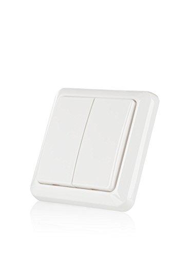 enocean dimmer Trust Smart Home 433 Mhz Funk-Doppel-Wandschalter AWST-8802