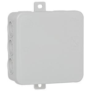 f-tronic Feuchtraum-Abzweigkasten IP54, 100 x 100 x 40 mm, Inhalt: 10, grau, E114