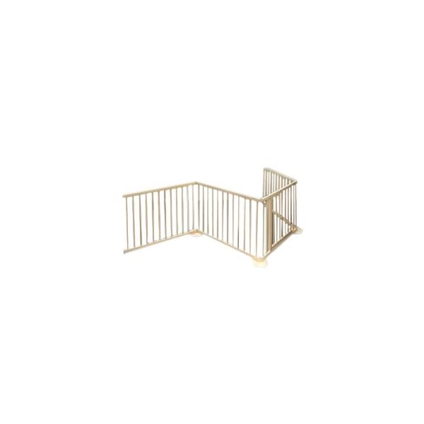 Safety gate GIANT up to 340 cm Bambino World Secure dangerous places in the house e.g. an open fire-place or arrange a safe playground with a square playpen. MAIN FEATURES: Fixation: using screws Opening system: Eye bolt Material: High quality rubberwood Color: Natural Height: 70cm Distance between bars:  1