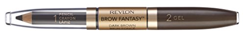 Revlon, Matita e gel per sopracciglia Brow Fantasy,Marrone( Dark Brown), 2 g