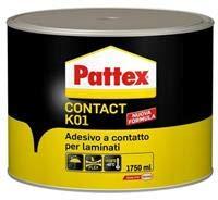 Pattex Contact K01 colla adesivo contatto laminati compensato lamiera 1750ml