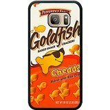 Goldfish Crackers Black Shell Phone Case Fit For Samsung Galaxy S7,Newest Cover