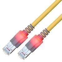 Sacon EasyLan DualBoot LED - Patch-Kabel - RJ-45 (M) bis RJ-45 (M) - 50 cm - SFTP - CAT 6 - IEEE 802.5IEEE 802.3 - geformt - Gelb (442603,050) - 6 Geformt Ethernet-patch-kabel