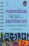 Bach - matematicas faciles para bachillerato (Chuletas) por Francisco Sanchez Fernandez