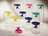 Alessi Gianni Storage Jar Aufbewahrungsglas groß dunkelblau Gianni Storage Jar