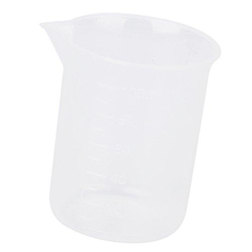 Shiwaki Lebensmittelqualität Kunststoff Klar Messbecher Becher Krug Container Für Labor Schule Küche Flüssiges Lebensmittel Öl Messung, 5 Größen Optional - Klar, 100ml (Kunststoff-krug Klare)