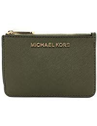 Michael Kors Jet Set Travel Small Top Zip Signature Coin Pouch ID Card Case (Duffle)