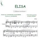 Partition : Elisa - Piano et paroles