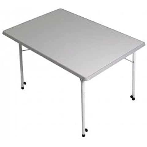 Mesa de camping Stabielo–80x 60cm Ajustable–Distribución mediante Productos–Holly® Stabielo®–Holly de Sunshade®–Patentada Innovaciones en Rango móvil universal de protección solar, fabricado en Alemania