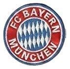Patch FC Bayern Munchen Durchmesser cm 8Aufnäher bestickt Stickerei Patches 416