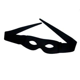 PARTY DISCOUNT Stoffmaske - Zorromaske zum Binden, schwarz