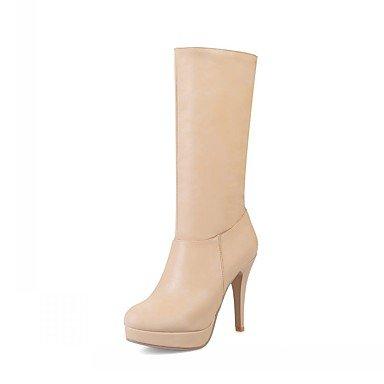 RTRY Scarpe Donna Pu Similpelle Autunno Inverno Comfort Novità Moda Stivali Stivali Stiletto Heel Round Toe Mid-Calf Stivali Per Party &Amp; Sera US8.5 / EU39 / UK6.5 / CN40