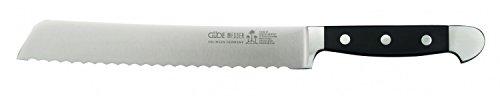 Güde Brotmesser, ALPHA Serie, Klingenlänge: 21 cm, POM schwarz, 1430/21 Küchenmesser - Geschmiedet - Solingen, Messer - groß - scharf  - hochwertig