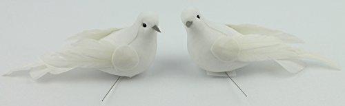 Hochzeitstauben Am Draht Weiß 8 Stück Tauben Hochzeit Gestecke  Gastgeschenke Basteln Zeremonie
