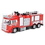 World Tech Toys' Rescue Fire Truck con agua, Canon y luces