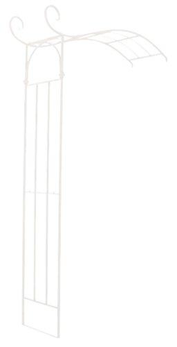 PEGANE Arche à Rosiers en Fer Coloris Blanc - 230 x 155 x 40 cm