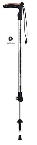 Gabel Pas F – L, bâtons de Trekking Mixte Adulte, Noir, 56 – 105 cm