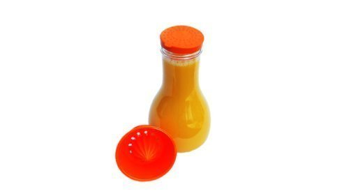 Citrus Orange - Mixer - Flasche 1,2 Liter mit integrierter Zitrus-/Orangenpresse für frische Getränke Juicy Salif
