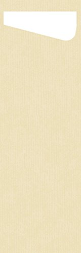 (Duni 161702Sacchetto Slim Besteck Taschen mit gefaltet Dunisoft Servietten Innen, 7cm x 23cm, cremefarben Sacchetto und weiß Serviette (240Stück))