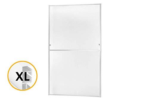 Zanzariera per finestra, telaio fisso, rimovibile, master slim, in alluminio, fibra di vetro, alluminio, regolabile in altezza come in larghezza rete in fibra di vetro, bianco