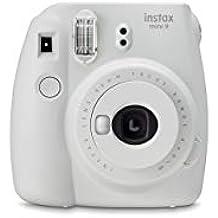 Fujifilm Instax Mini 9 Fotocamera per Stampe Formato 62 x 46 mm (Ricondizionato) ) (Bianco)