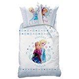 Funda nórdica, 140 x 200 cm, funda de almohada, diseño de Reina de las nieves de Frozen: El reino del hielo