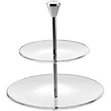 VIDIVI Vetri delle Venezie Full Moon tiered plate assiettes en verre et perche ,diametre 15/23 cm