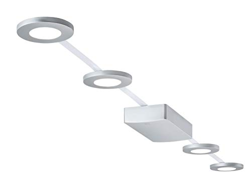 Paulmann LED Deckenleuchte PadLED EcoPad Round 5m Set 4x2 Chromfarben | LEDs fest verbaut 2,2W 238lm warmweiß | 953.47