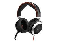 Jabra Evolve 80Stereo Binaural Head-Band Black, Silver Headset-Headsets (Call Center/Office, Binaural, Head-Band, Black, Silver, Wired, Supraaural) Binaural-stereo