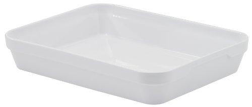 REVOL 5721 Plat à Four Rectangulaire Profond Porcelaine Blanc 34,5 x 26 x 6,5 cm