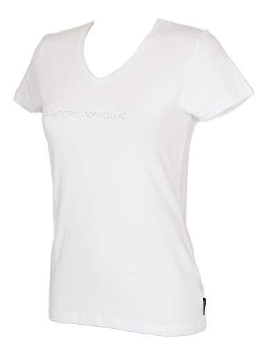 Emporio Armani T-Shirt T-Shirt Frau V-Ausschnitt Kurzarm Baumwolle Artikel 163321 9P263