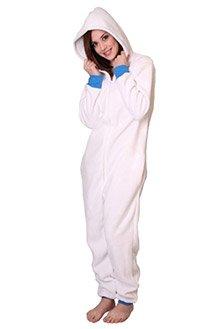 Einteiler Polar Funzee, Schlafoverall,Strampler für Erwachsene,Overall,Kuschelanzug,Ganzkörper Pyjama, körpergrößenabhängige Unisexgrößen XS-XXL (Large) (Halloween Pjs)