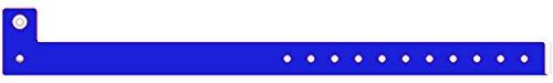 Eventbänder PE, 100 Stück, aus strapazierfähigem Polyethylen (Blau)