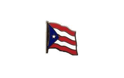 Flaggen-Pin/Anstecker Puerto Rico vergoldet -