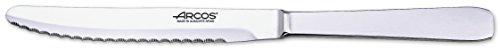 Arcos Couteaux de Table - Couteau de Table - Monobloc d'une Pièce Acier Inoxydable 125 mm Couleur Argent