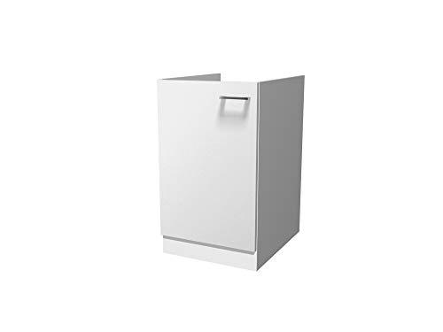 Flex-Well Spülenunterschrank LUCCA   Spülenschrank ohne Arbeitplatte   Breite 50 cm   Weiß