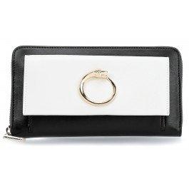 roberto-cavalli-class-viper-ladies-wallet-black-white