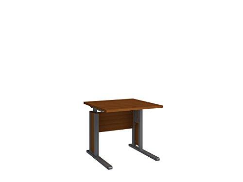 Wellemöbel, JOBexpress, Schreibtisch 80 cm x 80 cm 72000204, Kirschbaum