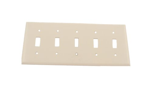 leviton-88023-5-gang-toggle-device-switch-wallplate-standard-size-thermoset-device-mount-white-by-le