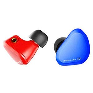 iBasso IT01 Écouteurs intra-auriculaires, qualité audiophile, avec câble détachable Rosso-Blu