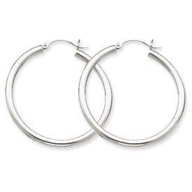 10k-oro-bianco-25-millimetri-rotonda-orecchini-a-cerchio-da-ukgems-10k-white-gold-25mm-round-hoop-ea